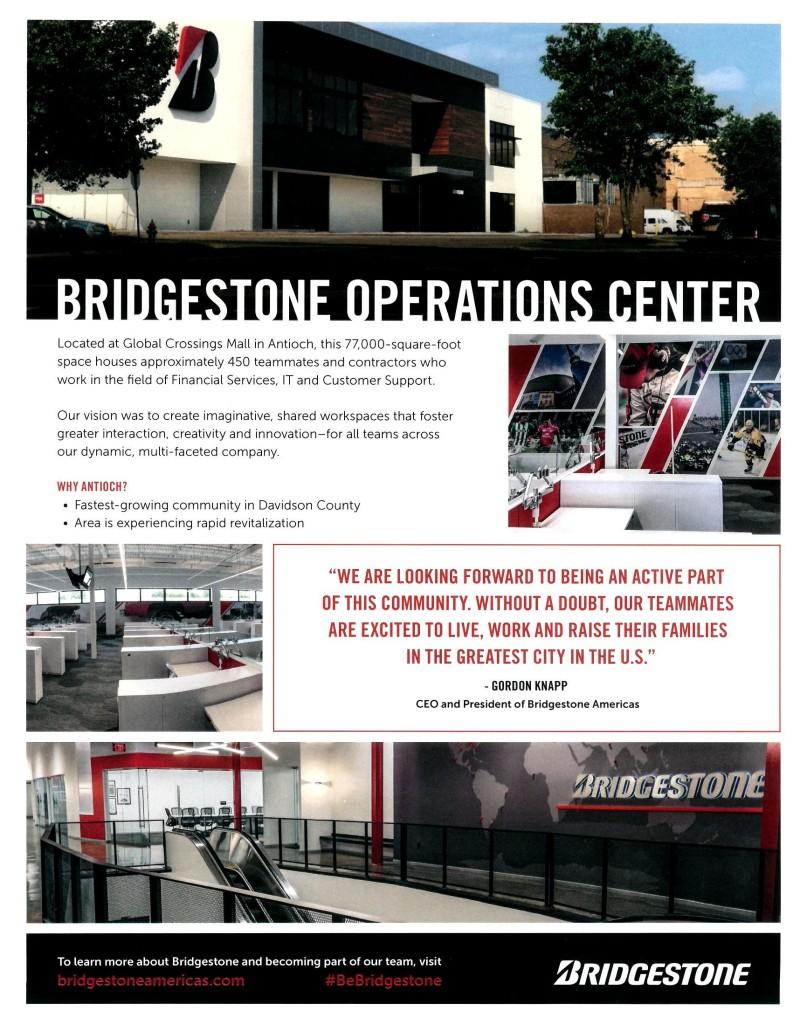 Bridgestone Operations Center Info Sheet
